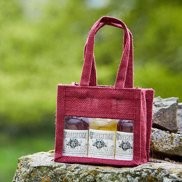 Damson Gin in a gift bag